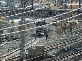 品川駅 線路切り替え工事