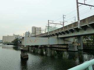 高浜西運河と東海道貨物線