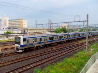E530系 電車 ジオラマ風