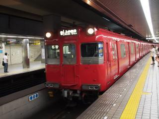 名古屋市営地下鉄 鶴舞線 名鉄100系 電車