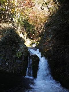 花貫渓谷の紅葉 汐見滝