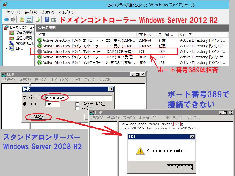 Active Directoryに対してLDAPとしてポート389で接続する - 徒然