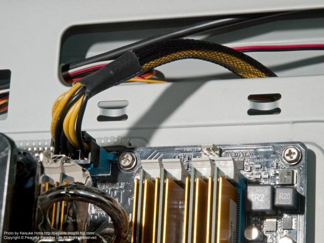自作PCの配線、マザボ電源