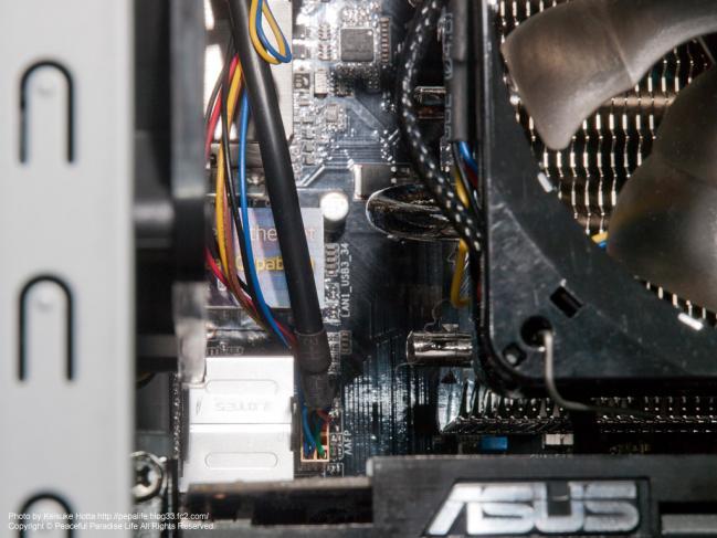 自作PCの配線、オーディオ