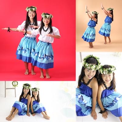 習い事 フラダンス 姉妹写真