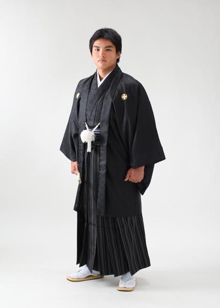 男性袴 成人式紋付袴 記念写真