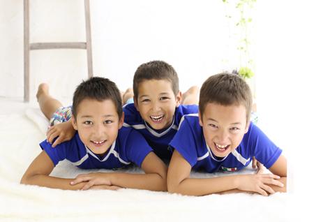 3兄弟写真 記念写真
