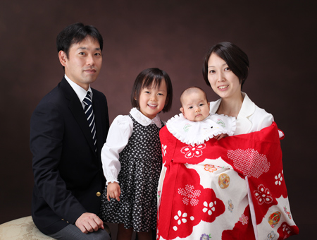 お宮参り 家族写真