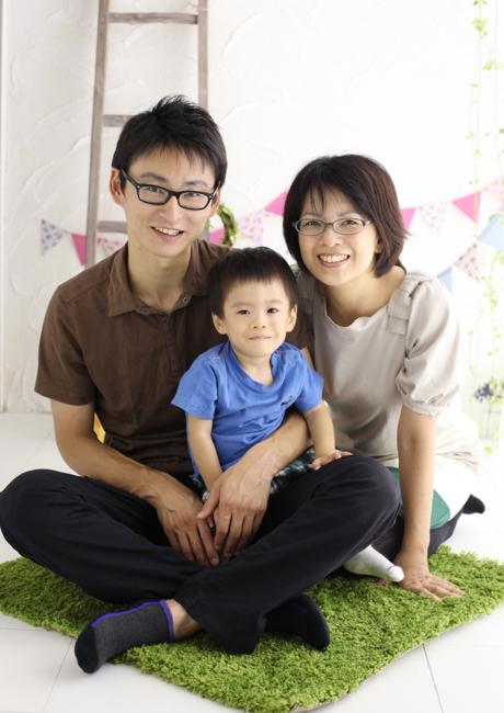 家族写真 フォトスタジオリーフ