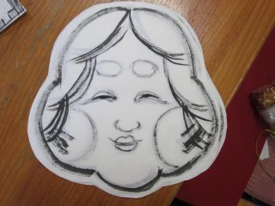 日本画の先生が描いてくれたお ...