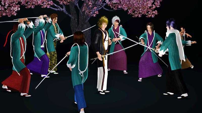 シムズ3 薄桜鬼 風間千景 和装など配布しました(Sims3)
