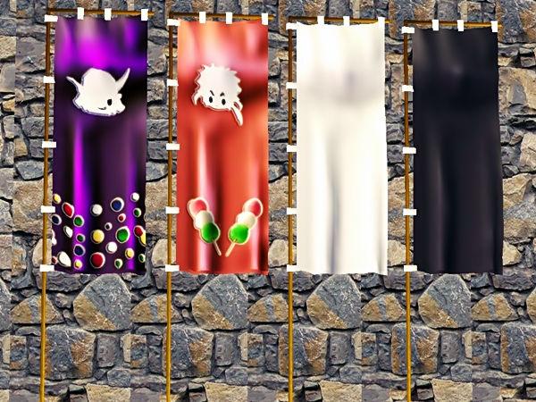戦国BASARA キャラクタ のぼり配布します(Sims2、Sims3)