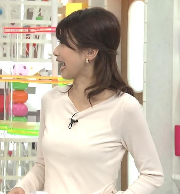 加藤綾子 キャミ透け薄着おっぱい