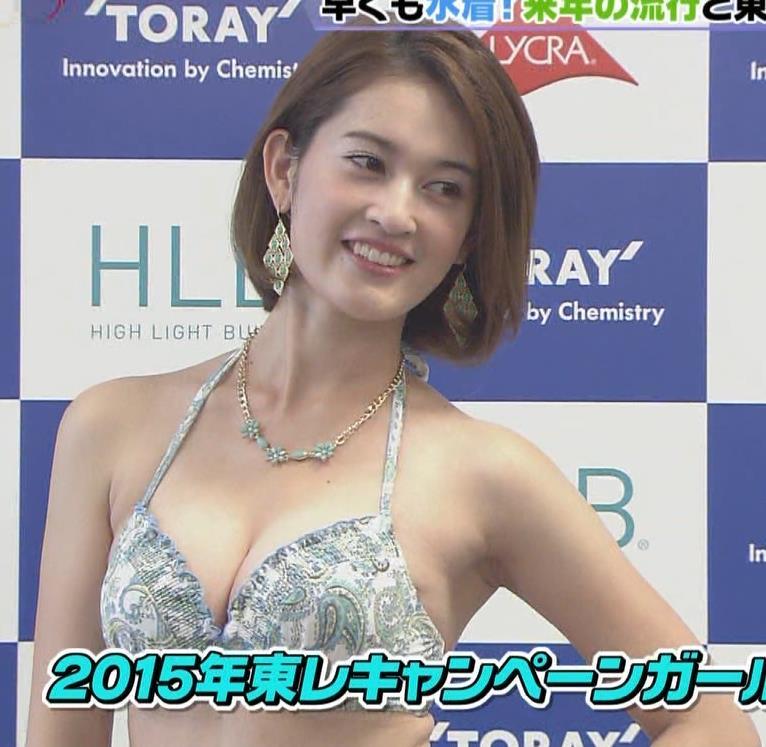 宮沢セイラ 東レの水着モデルキャプ画像(エロ・アイコラ画像)