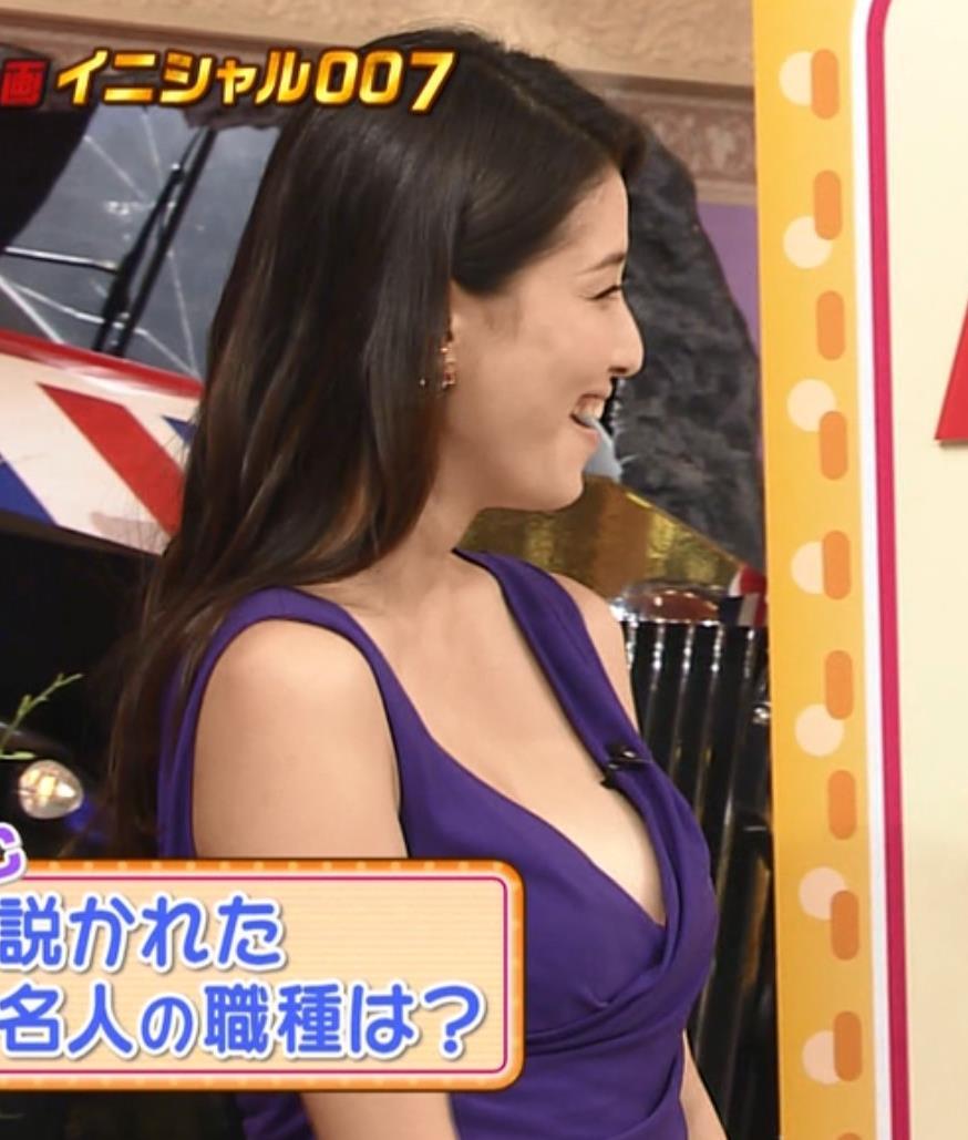 橋本マナミ しゃべくり007での過激衣装キャプ画像(エロ・アイコラ画像)