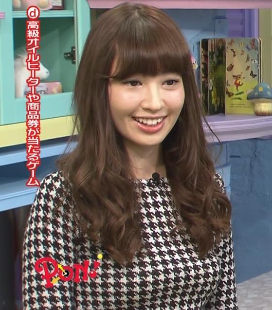 小嶋陽菜 おっぱいが目立つ柄の衣装キャプ画像(エロ・アイコラ画像)