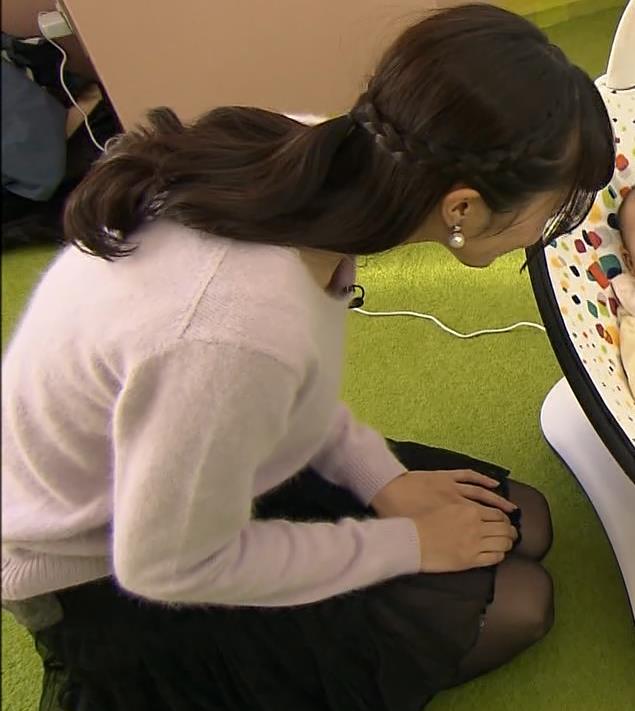 大澤亜季子 ミニスカ美脚キャプ画像(エロ・アイコラ画像)