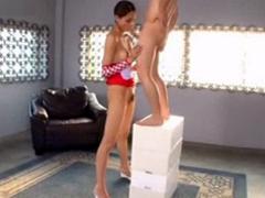 高身長175cm9頭身の真田レイラと小男の超身長差ファック