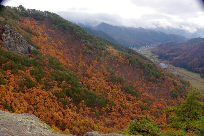 頂上付近からの二井宿山村