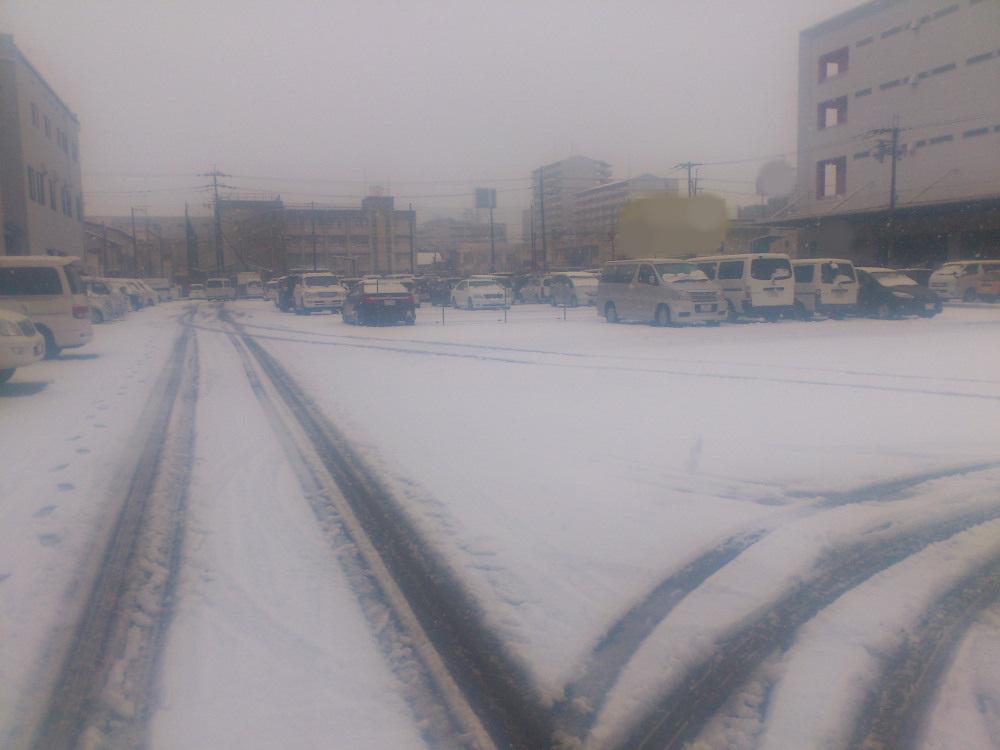 大阪に雪降ったよ