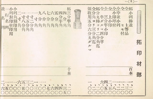 印章資料 カタログ