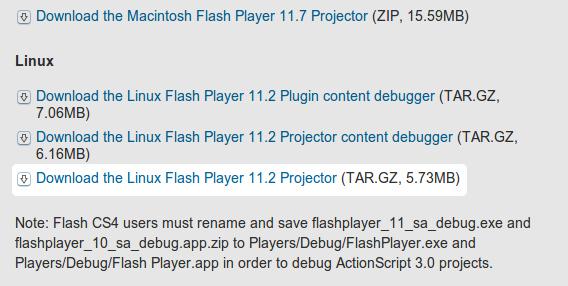 Adobe Flash Player Ubuntu ダウンロード