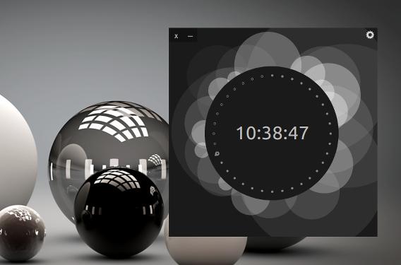 UP Clock Ubuntu 時計 ウィジェット ブラック