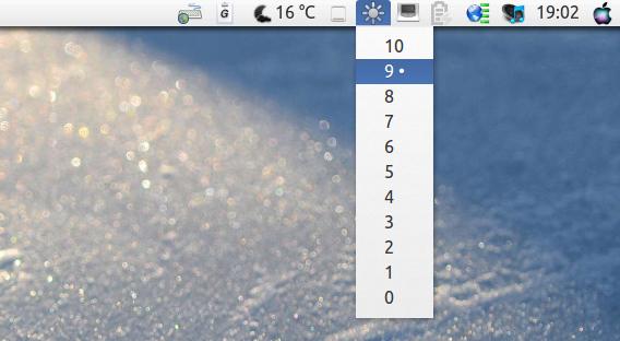 Ubuntu 13.04 Unity パネル Brightness Indicator